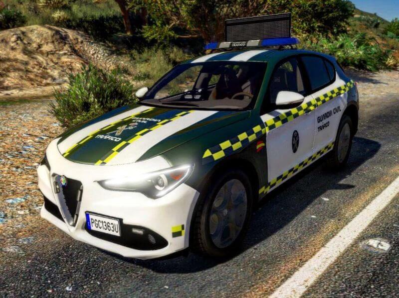 Coche guardia civil Alfa Romeo Stelvio