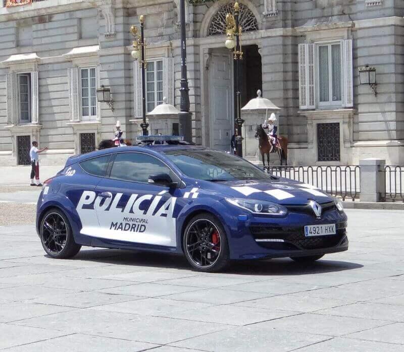 Renault Megane RS policía de España