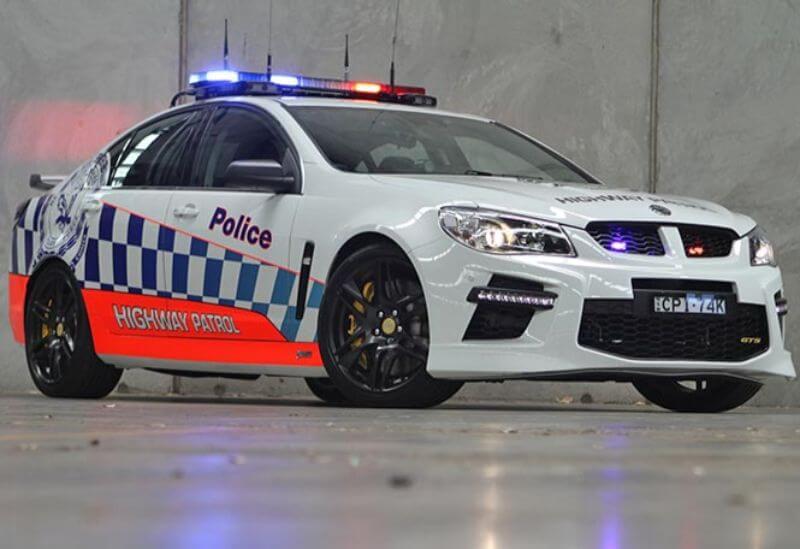 Coche HSV GTS de policia Australia