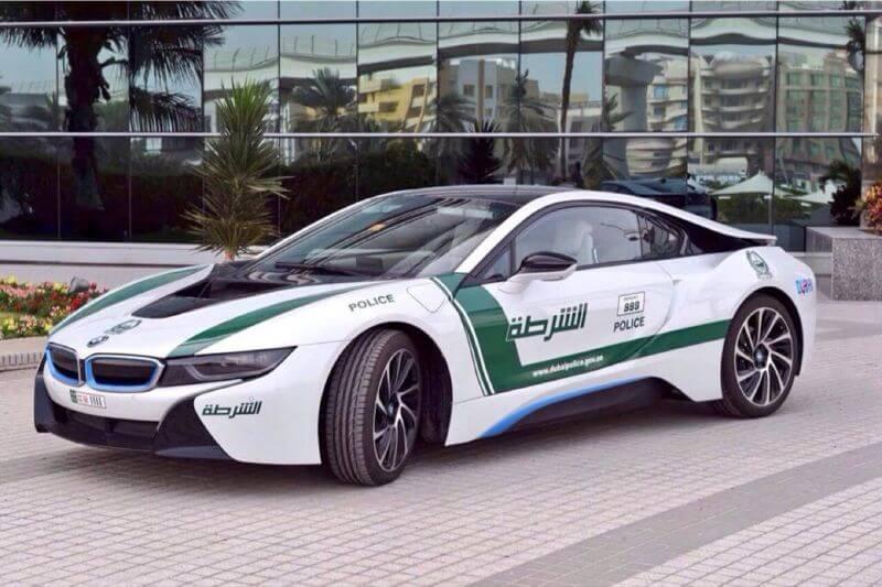 BMW i8 coche de policía de Dubái