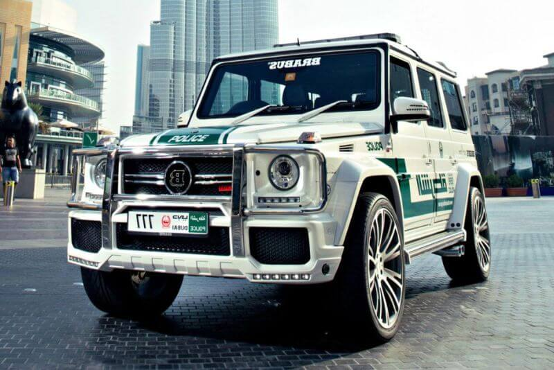 Mercedes Benz G63 BRABUS de la policía de Dubái