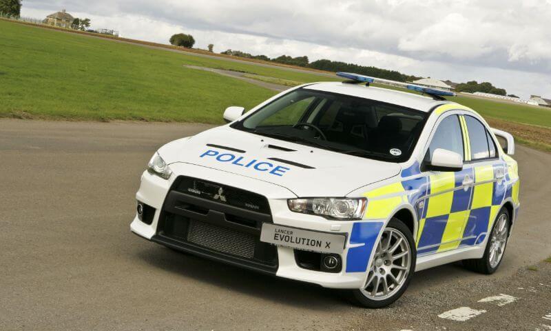 Mitsubishi Lancer EVO X de la policía de Australia