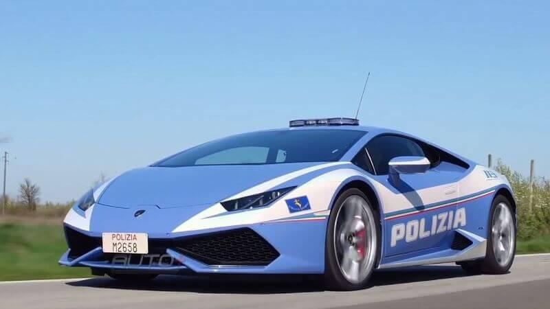 Policía italiana con Lamborghini Hurcana