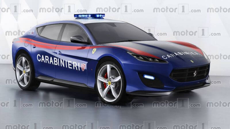Coche policía de Italia Ferrari SUV Caravinieri